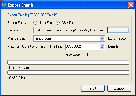 how to generate e-mails with millions email generator