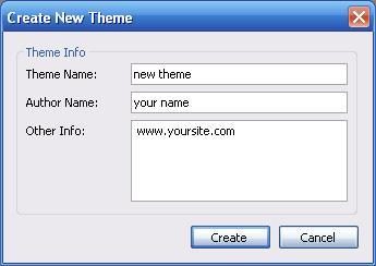 Theme Maker New Theme Dialog